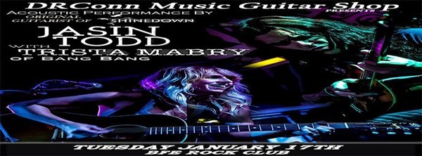 Get Information and buy tickets to DRConn Music Guitar Shop Presents Jasin Todd & Trista Mabry on BFE Rock Club