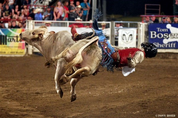 Get Information and buy tickets to Extreme Bulls 2020 (Wednesday) Wednesday evening performance on Redding Rodeo Association