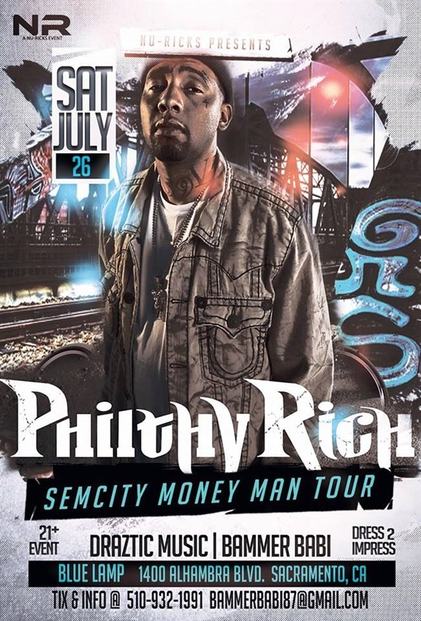 Get Information and buy tickets to PHILTHY RICH SIM CITY MONEY MAN TOUR BAMMER BABI on nu-rickis records