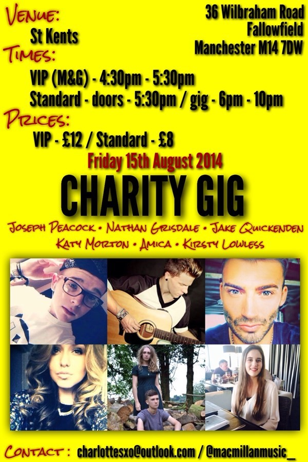 Get Information and buy tickets to Charity Gig  on Charlotte and Shauna