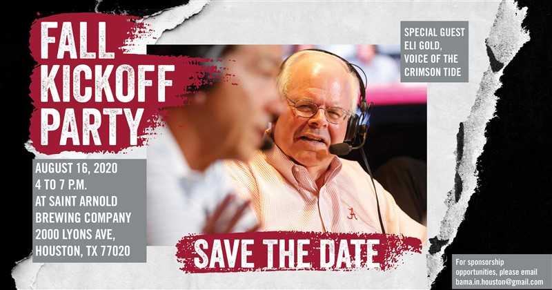 Get Information and buy tickets to Fall Kickoff Party with Eli Gold  on www.bamahouston.com