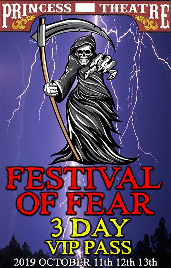 Get Information and buy tickets to FESTIVAL OF FEAR 3 DAY VIP PASS October 11th, 12th, & 13th EARLY BIRD Price Only $38.00 on www.edmontonfestivaloffear.com