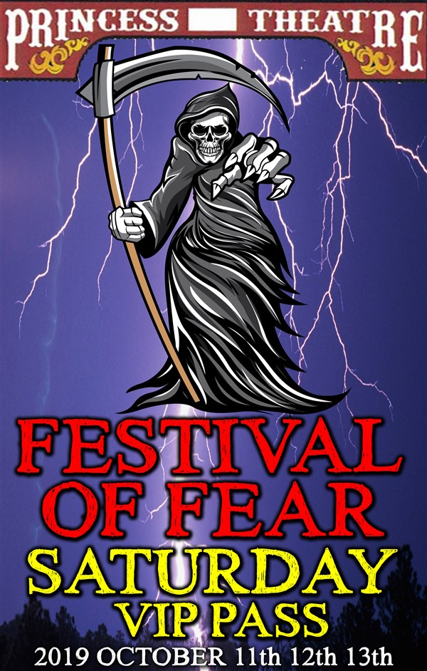 Get Information and buy tickets to FESTIVAL OF FEAR SATURDAY VIP PASS Saturday October 12th, EARLY BIRD Price Only $28.00 on www.edmontonfestivaloffear.com
