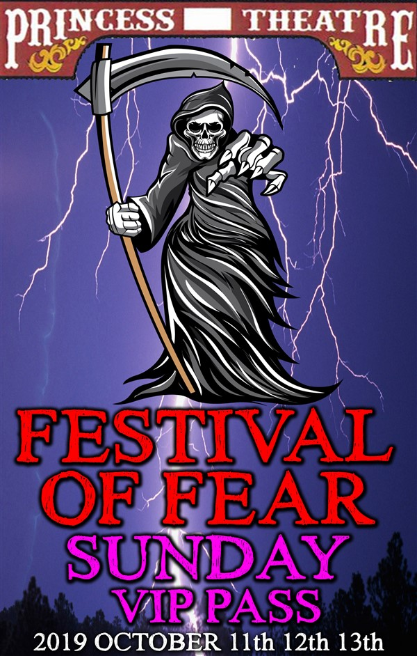 Get Information and buy tickets to FESTIVAL OF FEAR SUNDAY VIP PASS Sunday October 13th, EARLY BIRD Price Only $14.95 on www.edmontonfestivaloffear.com