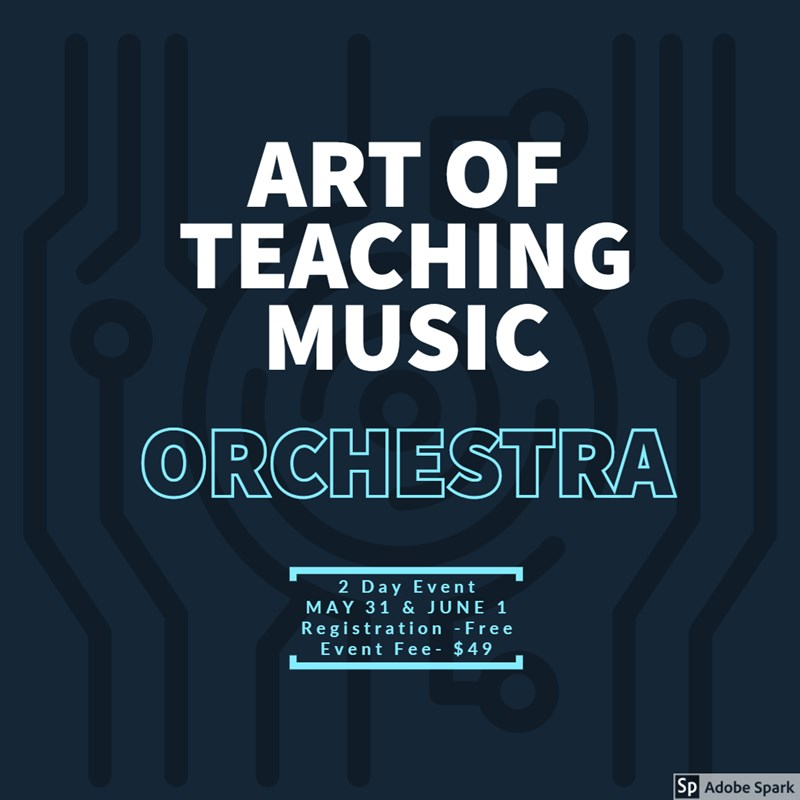 Get Information and buy tickets to Art of Teaching Music-Orchestra Orchestra Division Professional Development on fultonperformingarts.org