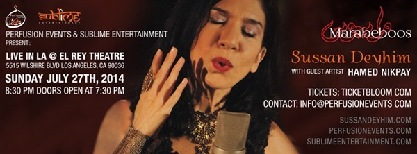 Get Information and buy tickets to Sussan Deyhim Live in LA  on perfusionevents.com