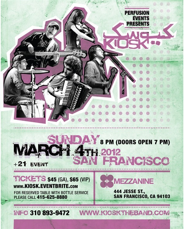 Get Information and buy tickets to Kiosk in SF  on perfusionevents.com