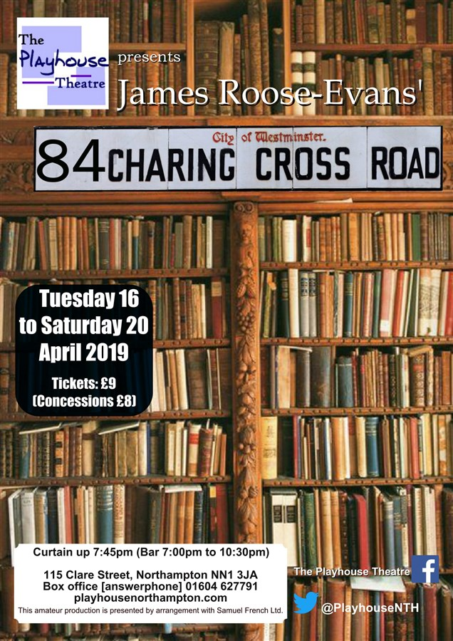 Get Information and buy tickets to 84 Charing Cross Road  on Playhouse Theatre Northampton