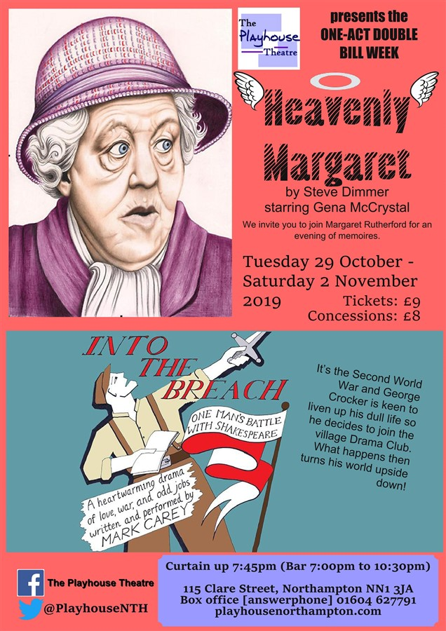 Get Information and buy tickets to Heavenly Margaret/Into The Breach  on Playhouse Theatre Northampton