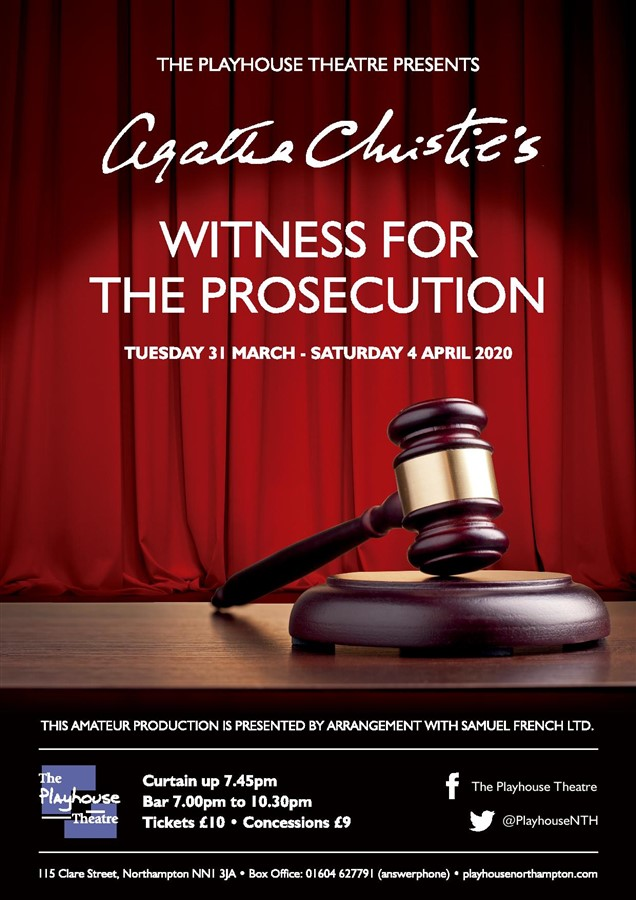 Get Information and buy tickets to Witness for the Prosecution  on Playhouse Theatre Northampton