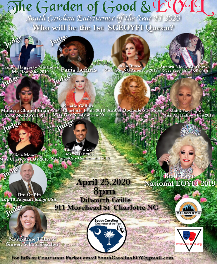 South Carolina Entertainer of the Year Preliminary Pageant  on Apr 25, 19:00@Dilworth Neighborhood Grille - Buy tickets and Get information on Buff Faye