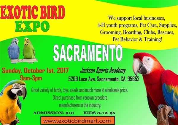 SACRAMENTO EXOTIC BIRDS EXPO