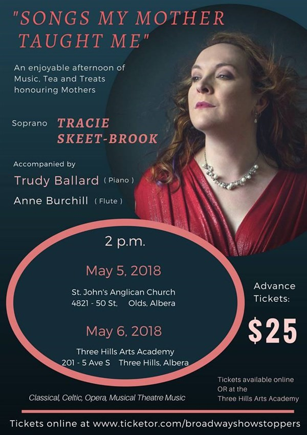 Get Information and buy tickets to Songs My Mother Taught Me An enjoyable afternoon of Music and Treats honouring Mothers on Broadway Showstoppers