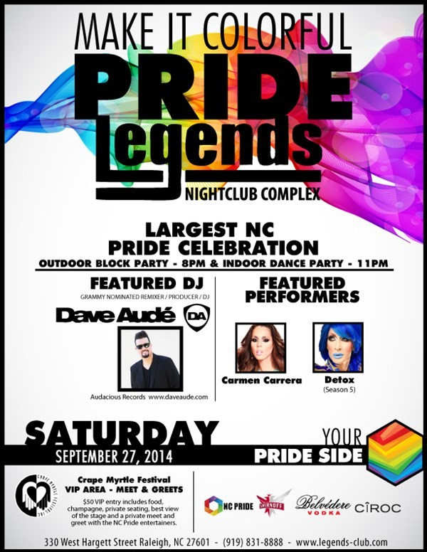 Get Information and buy tickets to Pride Festival Pride Pass on Legends Nightclub