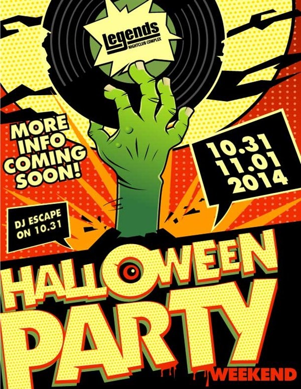 Get Information and buy tickets to Fright Pass Halloween Party Pass on Legends Nightclub