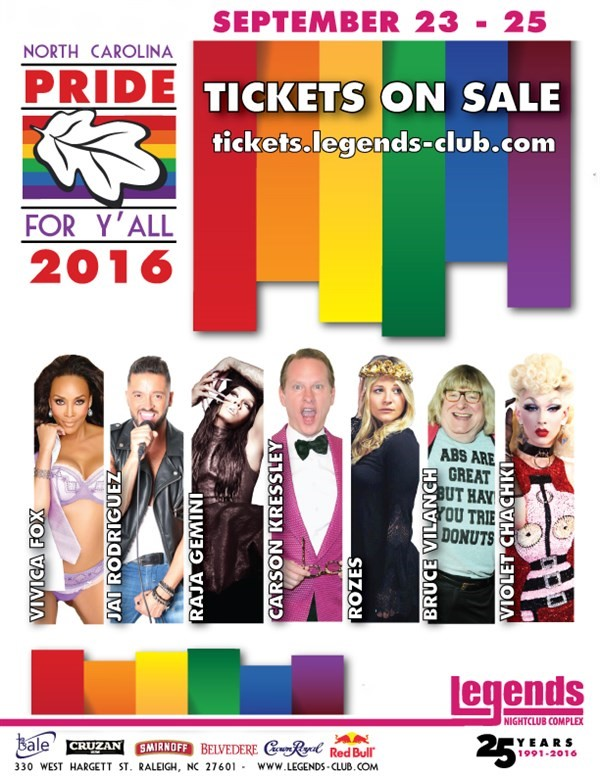 Get Information and buy tickets to PRIDE 2016  on Legends Nightclub