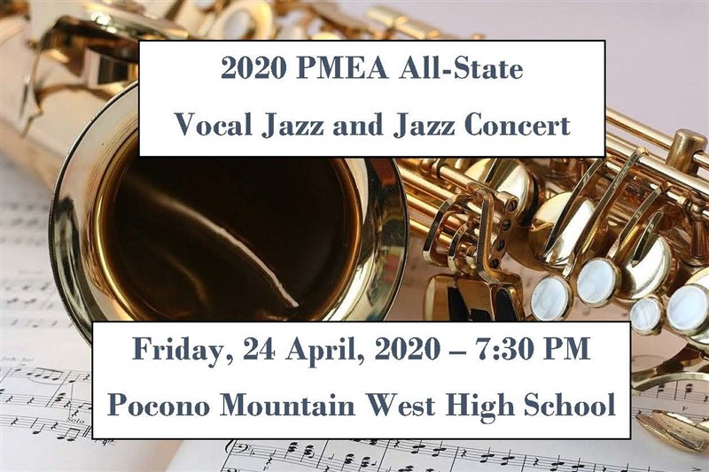 Get Information and buy tickets to 2020 PMEA All-State Vocal Jazz & Jazz Concert Non-refundable on PMEA