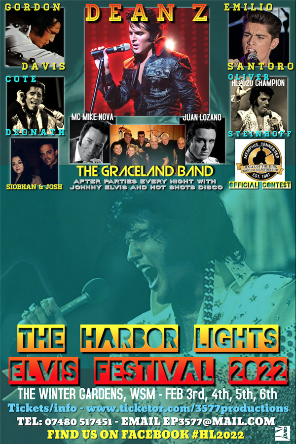 Get Information and buy tickets to The Harbor Lights Elvis Festival 2022 Rescheduled from 2021 on www.3577productions.com