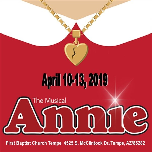 Get Information and buy tickets to FBC ANNIE WEDNESDAY on First Baptist Church - Tempe