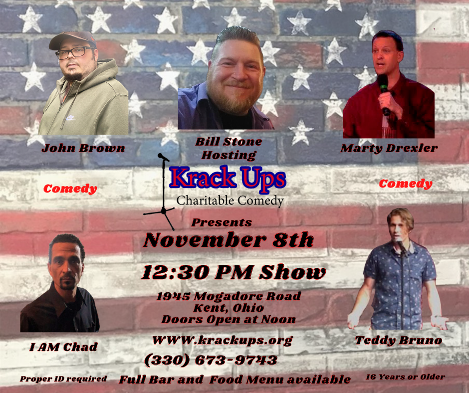 Comedy Show November 8th 2020 Krack Ups on Nov 08, 12:30@Portage Post Kent American Legion - Buy tickets and Get information on  Krack Ups