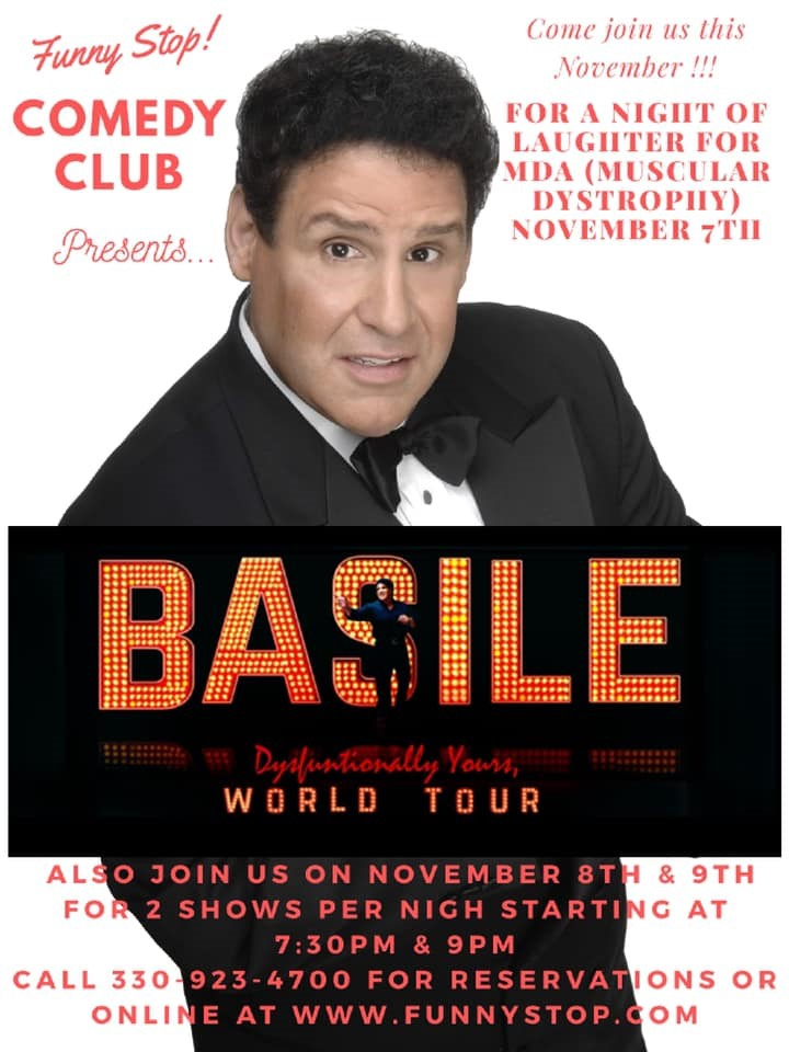 Basile Thursday Show 8:00 PM A Night of Laughter to Help End Muscular Dystrophy on Nov 07, 20:00@Funny Stop Comedy Club - Buy tickets and Get information on Funny Stop funnystop.online