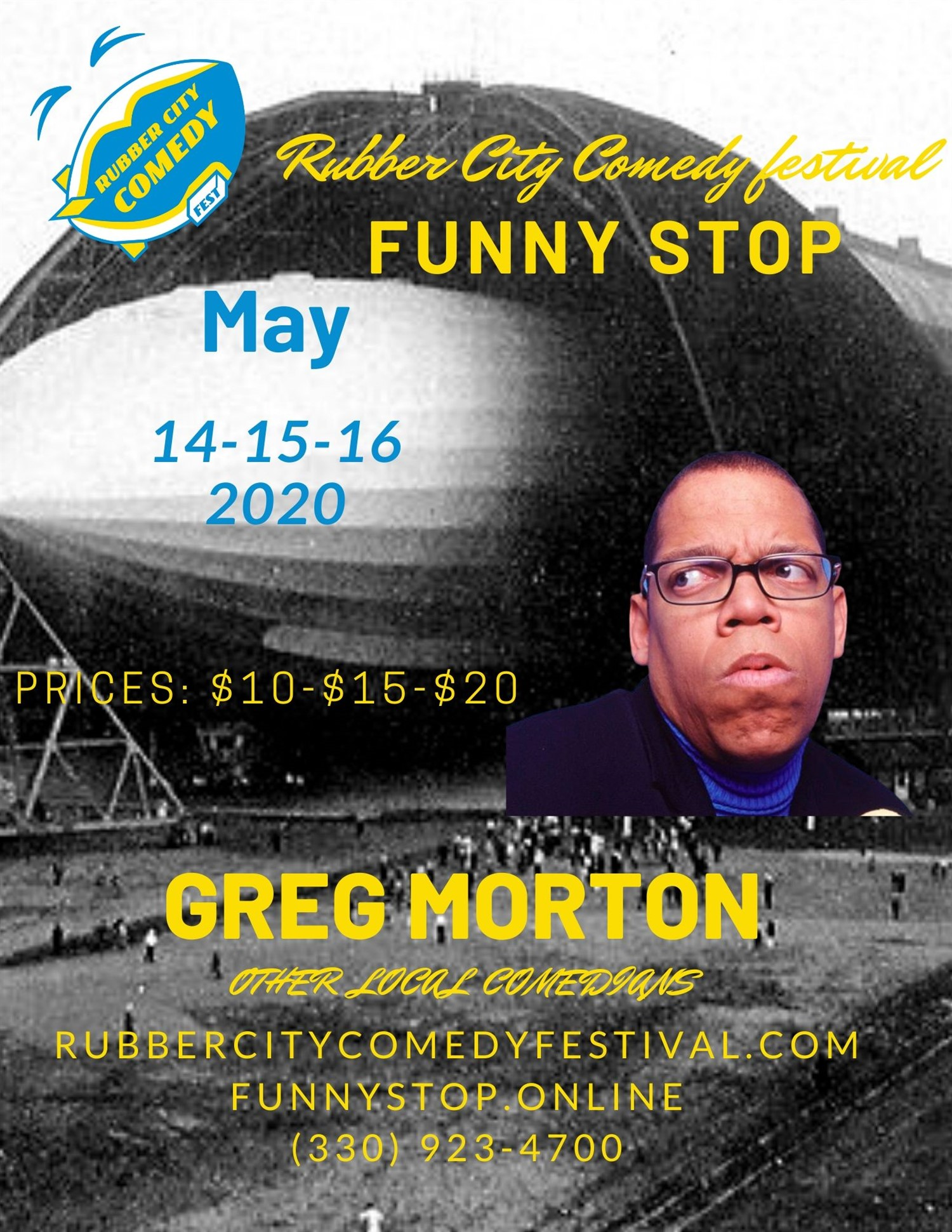 Rubber City Comedy Festival Greg Morton Thursday Show on may. 14, 20:00@Funny Stop Comedy Club - Buy tickets and Get information on Funny Stop funnystop.online