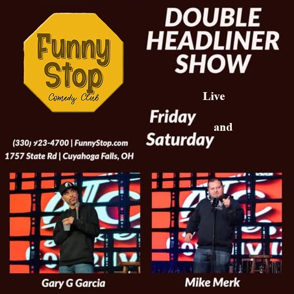 Gary G Garcia and Mike Merk  7:20 show Funny Stop Comedy Club on Apr 30, 19:20@Funny Stop Comedy Club - Buy tickets and Get information on Funny Stop funnystop.online