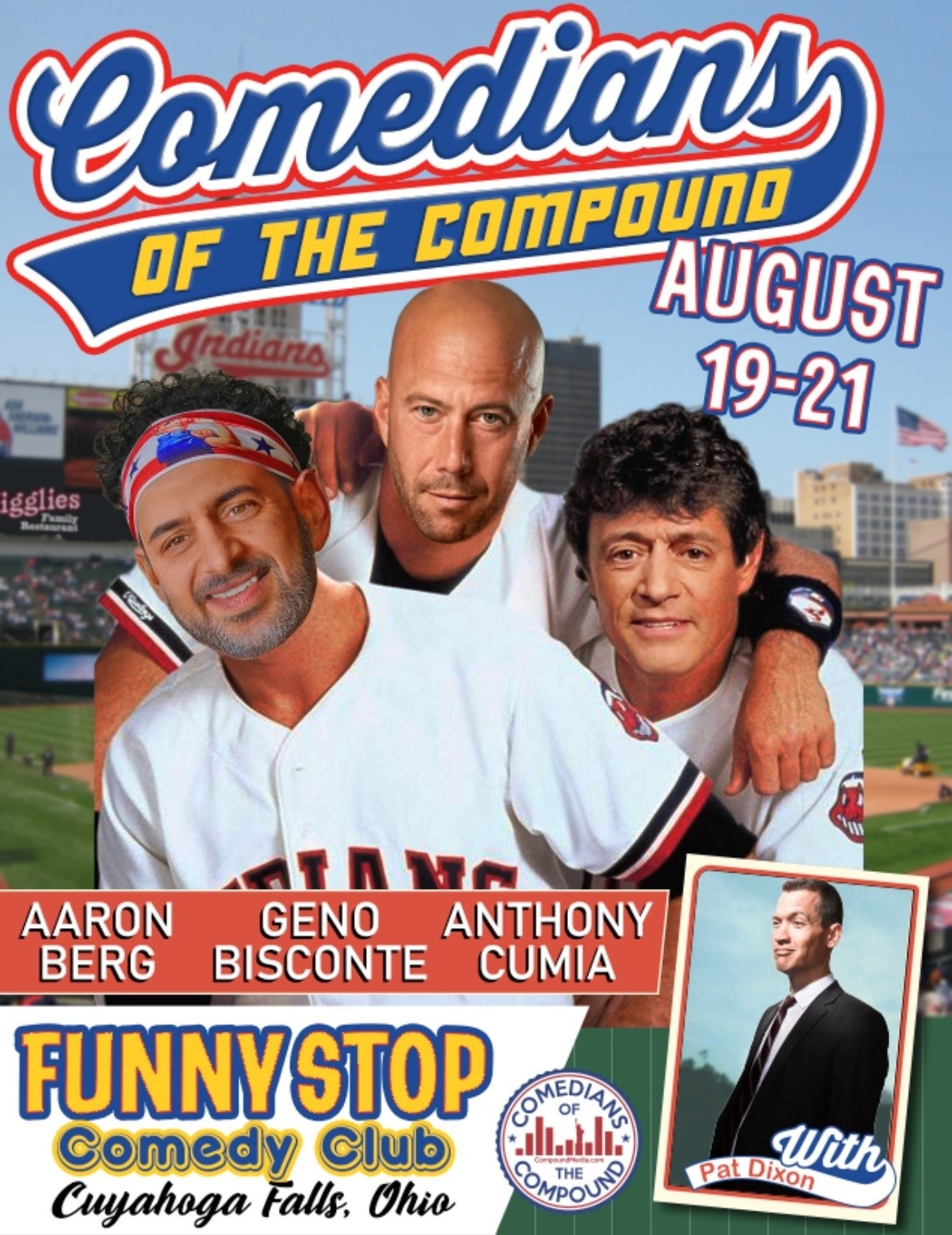 Comedians Of the Compound  8 PM Show Funny Stop Comedy Club on ago. 19, 20:00@Funny Stop Comedy Club - Buy tickets and Get information on Funny Stop funnystop.online