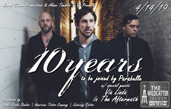 Get Information and buy tickets to 10 Years  on Enduring Tickets