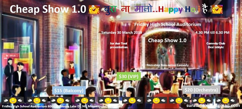 Get Information and buy tickets to Cheap Show Nonstop Nonsense Comedy on Sur Aur Taal LLC