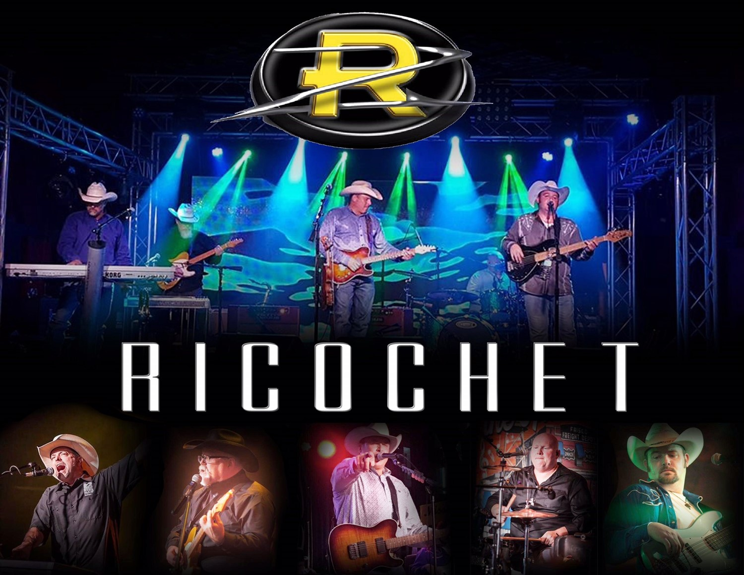 RICOCHET Special Guest Brock Wagoner on Jul 24, 20:00@Gateway Civic Center - Buy tickets and Get information on City of Oberlin