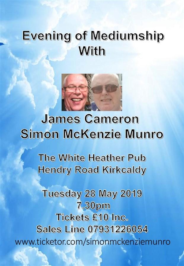 Get Information and buy tickets to EVENING OF MEDIUMSHIP AT WHITE HEATHER PUB KIRKCALDY  on simonmckenziemunro