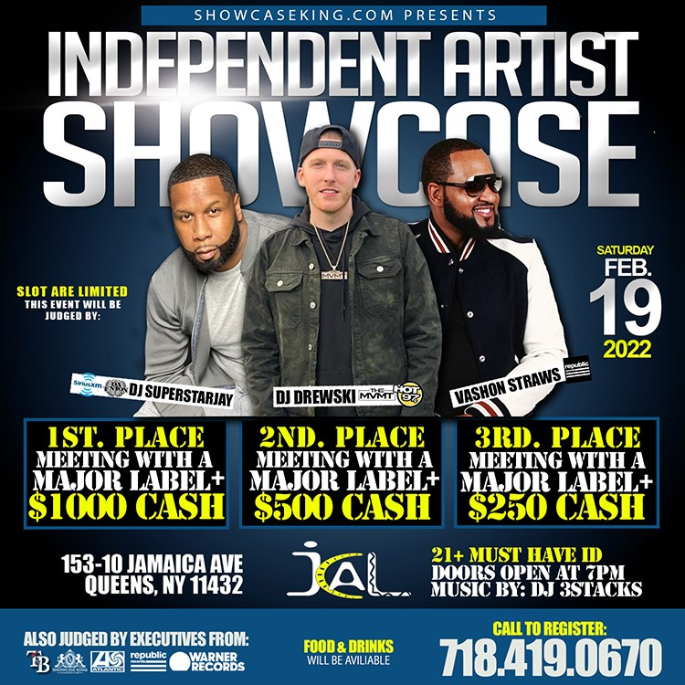Sound Check Industry Showcase  on Jan 22, 18:00@Jamaica Performing Arts Center - Buy tickets and Get information on SHOWCASE KING LLC.