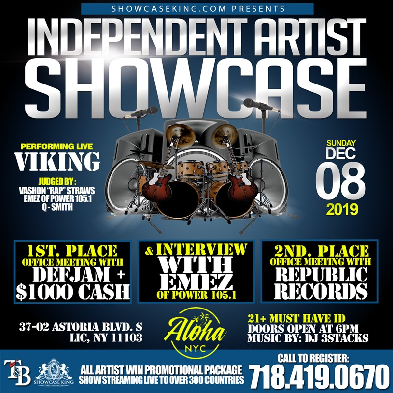 Get Information and buy tickets to INDEPENDENT ARTIST SHOWCASE  on SHOWCASE KING LLC.