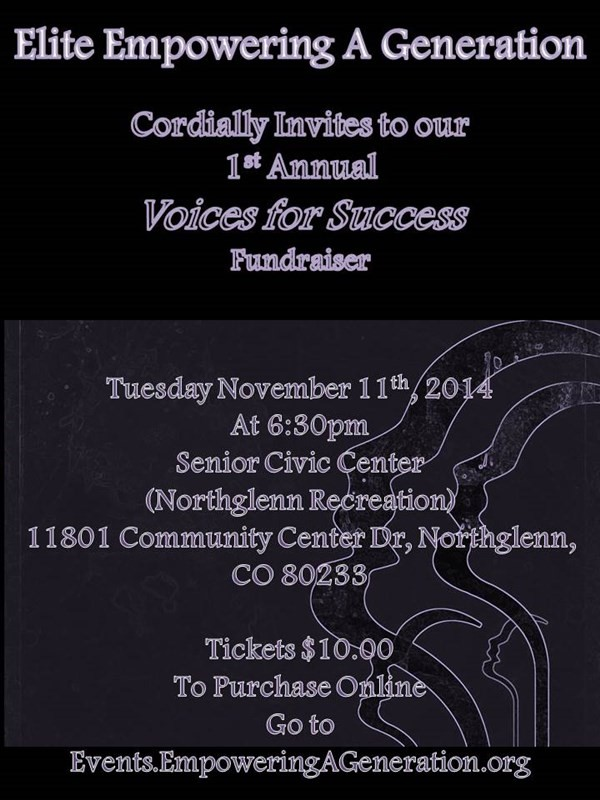 Get Information and buy tickets to Voices for Success Fundraiser  on Elite Empowering a Generation